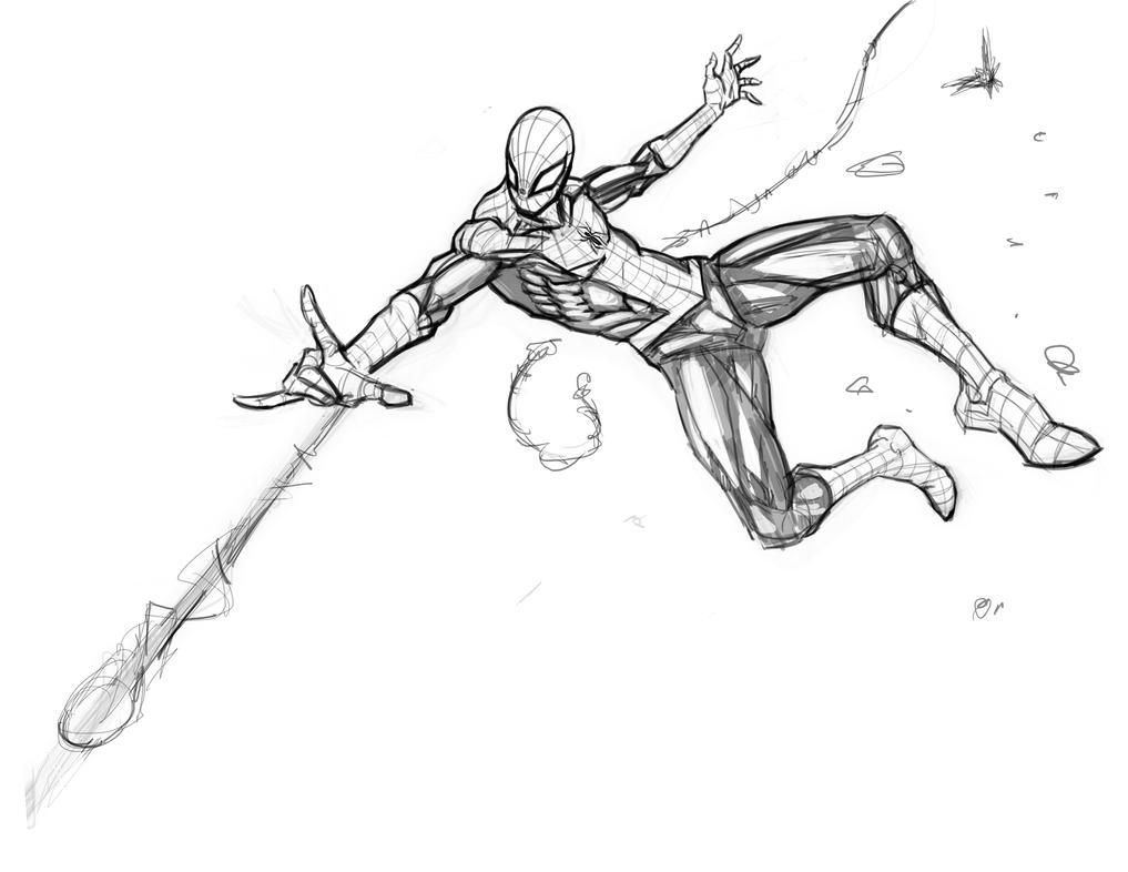 Spiderman Sketch by freddylupus