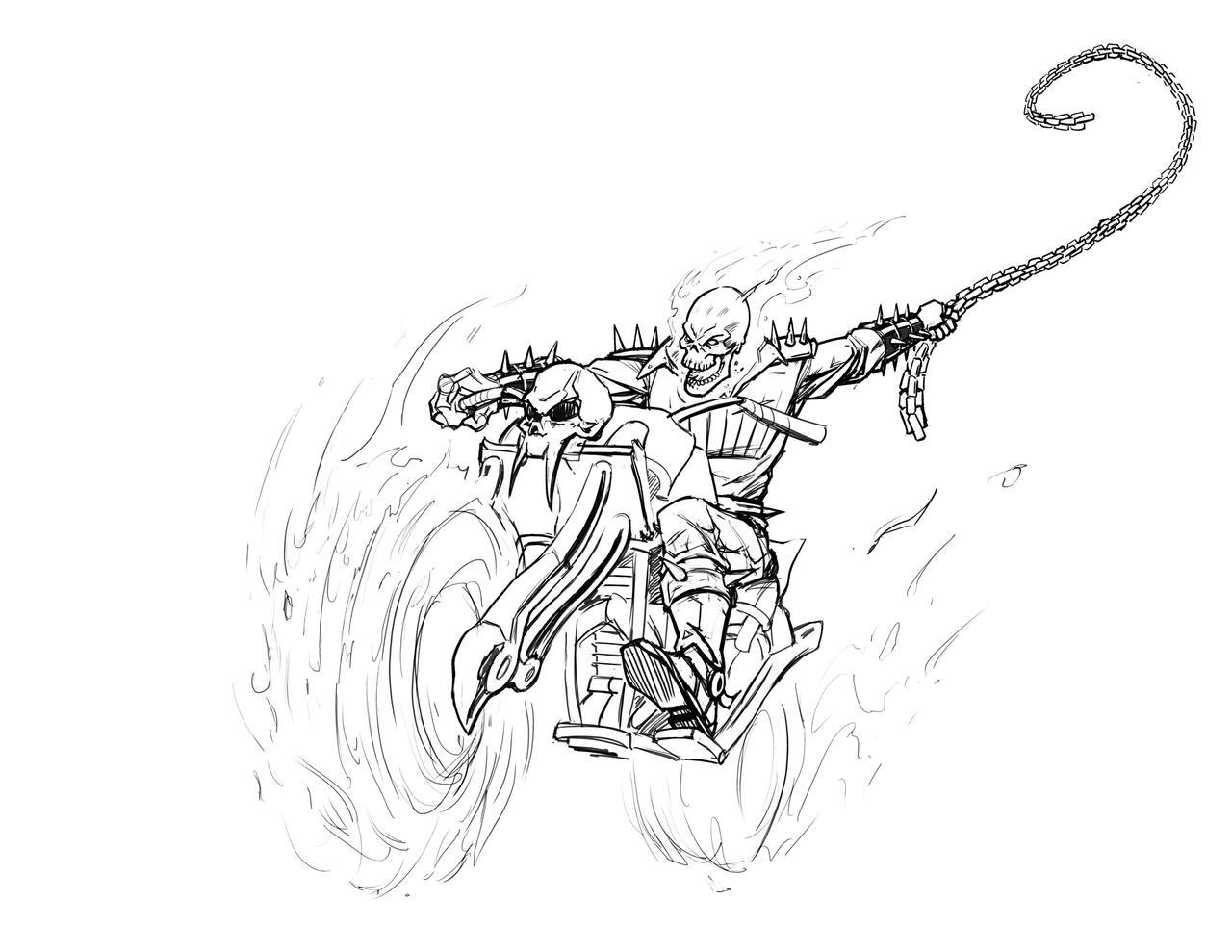 Ghost Rider Sketch By Freddylupus On DeviantArt
