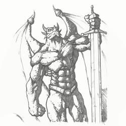 Dragon Man by freddylupus