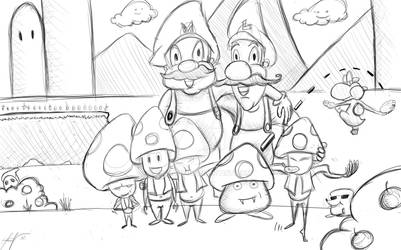 Super Mario and Friends? by bimbady
