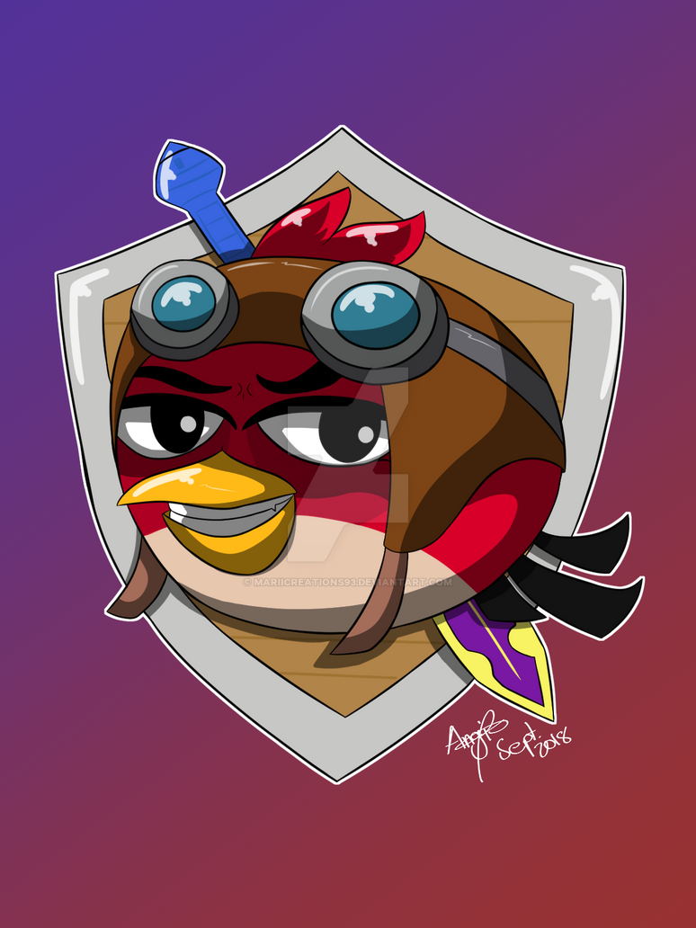 .:Commission:. Angry Bird by MariiCreations93