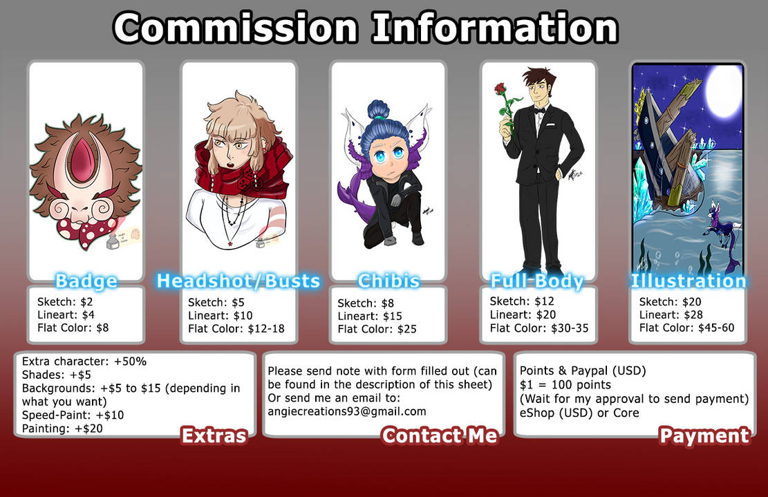 .:Personal:. Commission Sheet [CLosed]