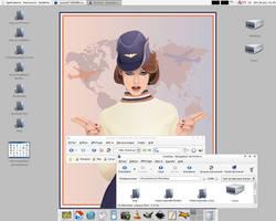 Vista-Inspirate Desktop by sa-ki