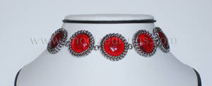 Red Glass Cabochons