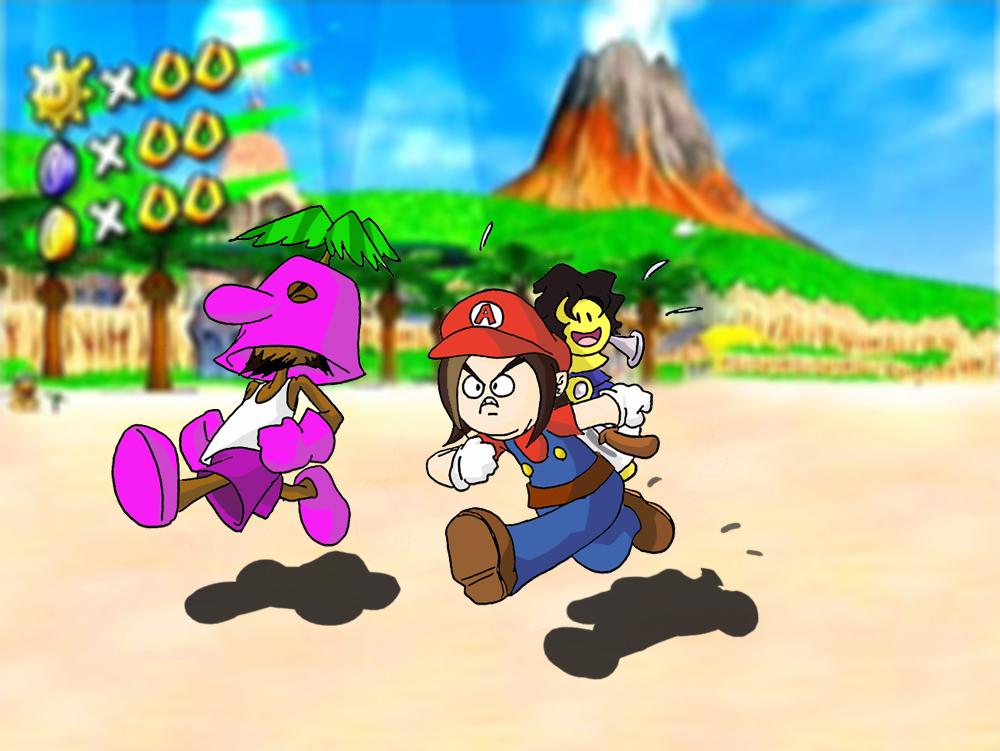 Game Grumps In Super Mario Sunshine By Fredcheeseburger On Deviantart