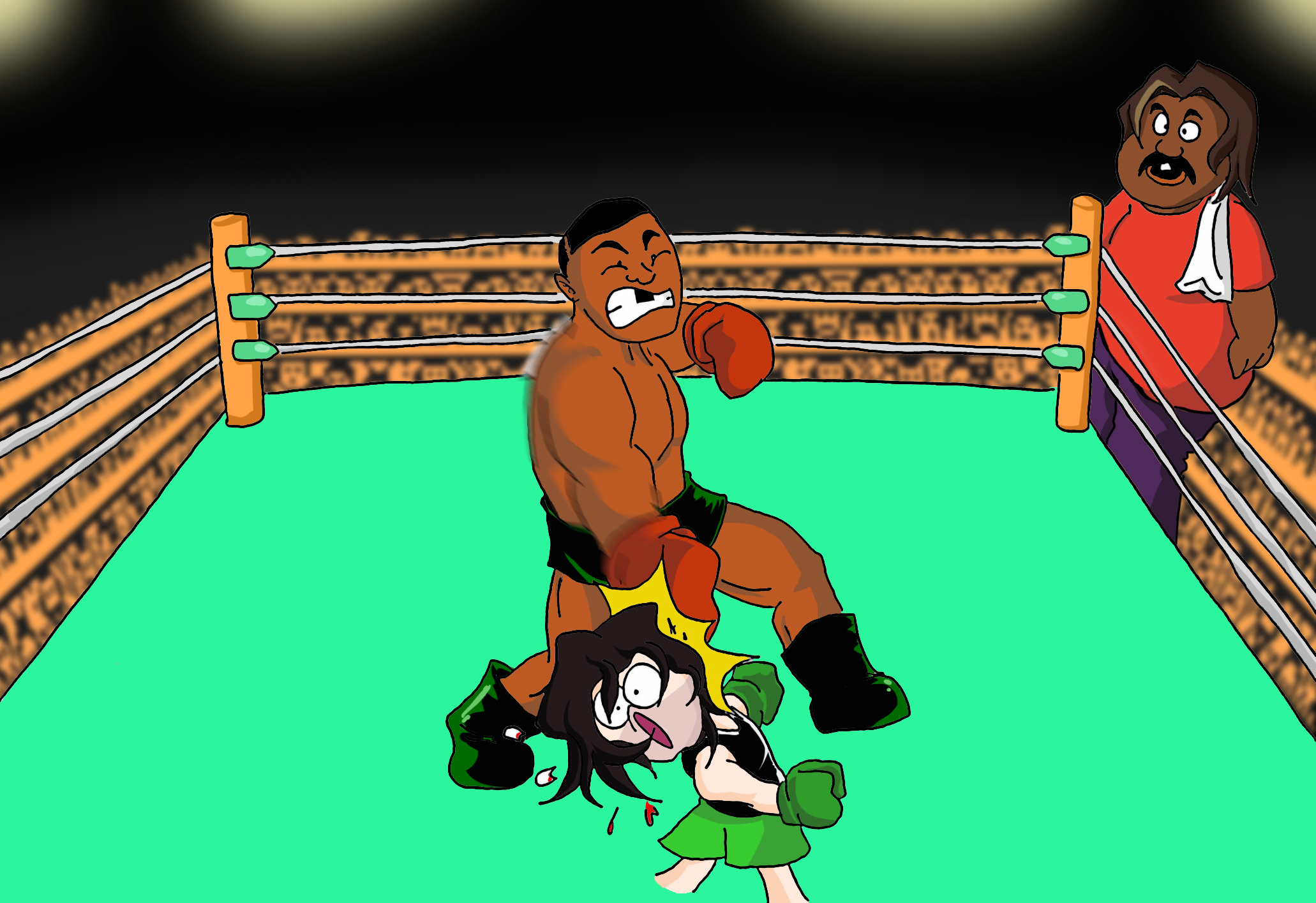 Game Grumps in Mike Tyson's Punch Out by Fredcheeseburger