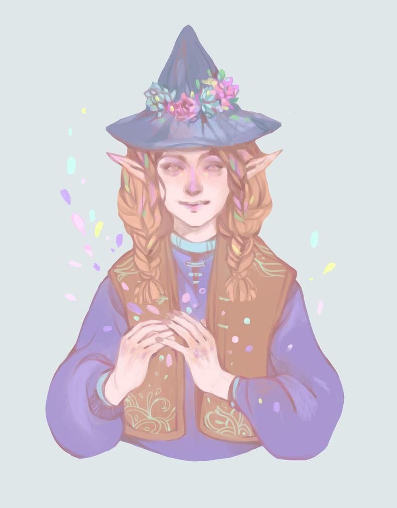 Elf Witch by DaryaSpace