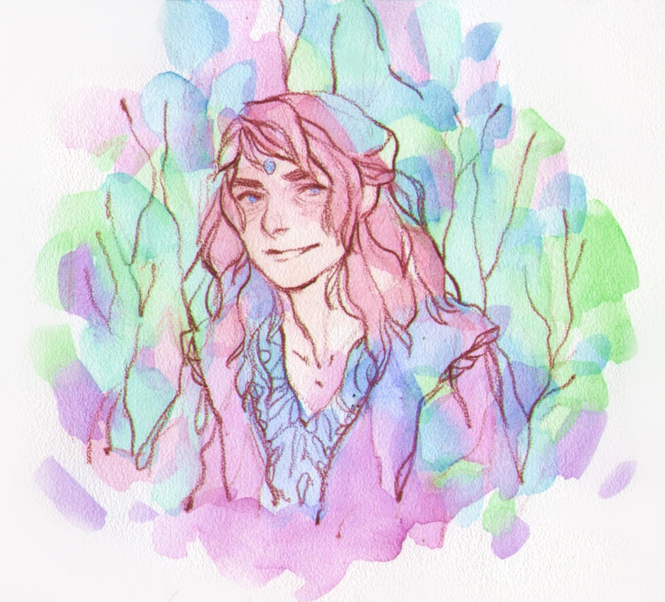 Watercolor Portrait Commission by DaryaSpace