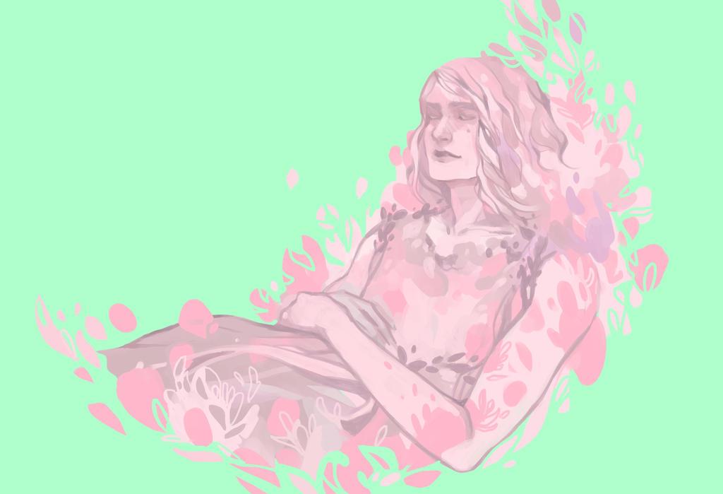 Sleeping Flower by DaryaSpace