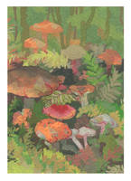 mushrooms by DaryaSpace