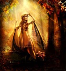 Where Autumn strolls