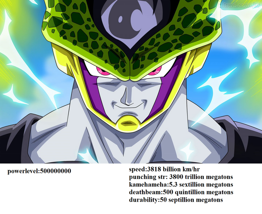 Perfect Cell Stats By Brandonking2013 On DeviantArt