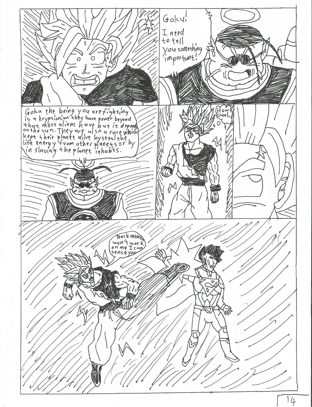 goku vs superman page 14 by brandonking2013 on DeviantArt