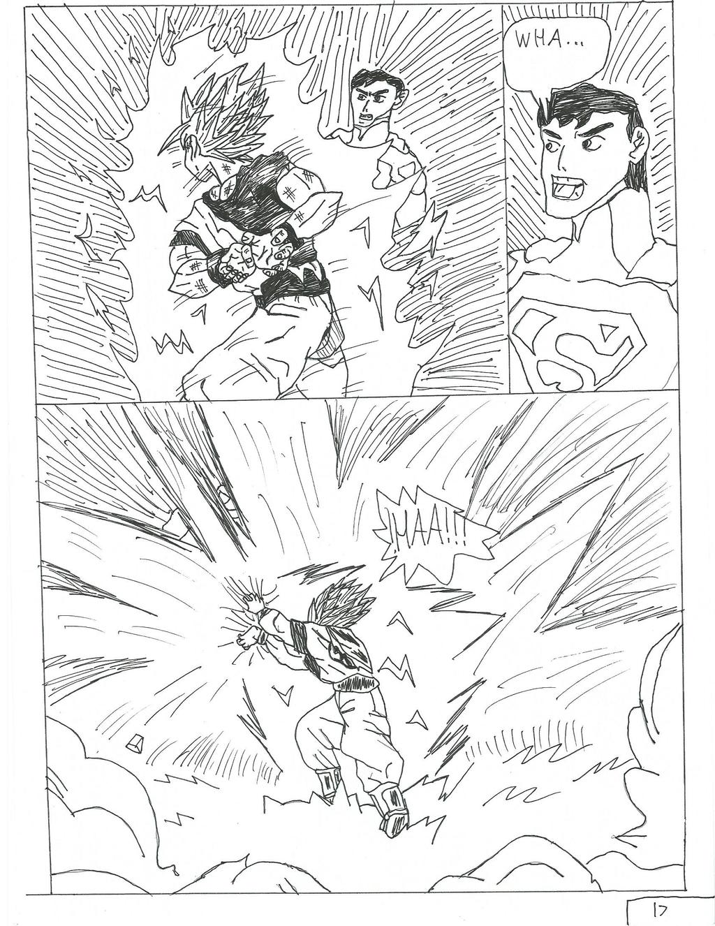 goku vs superman page 17 by brandonking2013 on DeviantArt