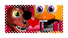 Withered Foxy x Chica (FNAF World) Stamp by DuhEEva