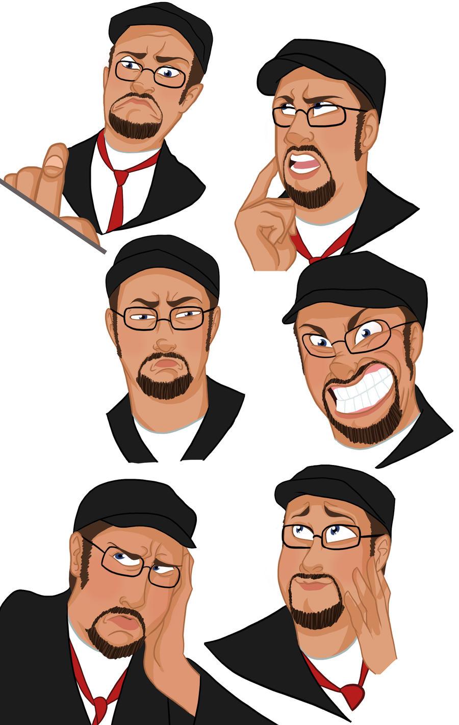 Nostalgia Critic Doodles by SpicyPoptart