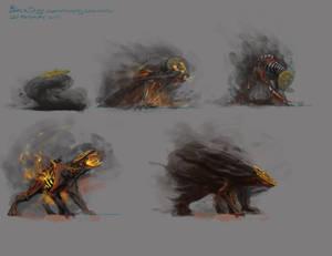 Summoning animation- Black Dog