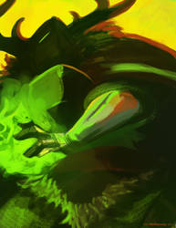 Green Knight speedpaint