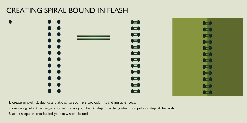 Creating spiral bound in flash by Happy-Flasher