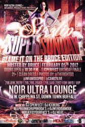 Super Sunday Party Flyer
