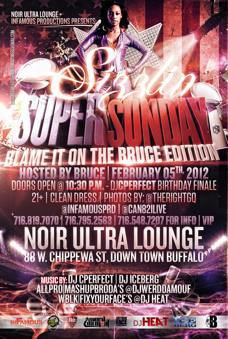 Super Sunday Party Flyer by V1sualPoetry on DeviantArt