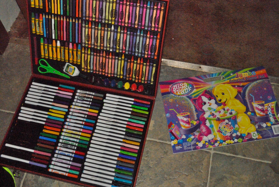 Art set and Lisa Frank coloring book by thinminmeg on DeviantArt