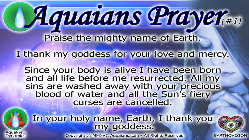 Aquaians Prayer #1-Youtube POSTER by Aquaians