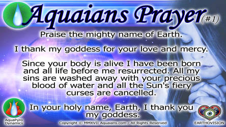 Aquaians Prayer #1-Youtube POSTER by Aquaians
