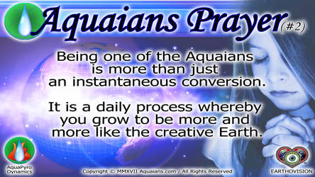 Aquaians Prayer #2 by Aquaians