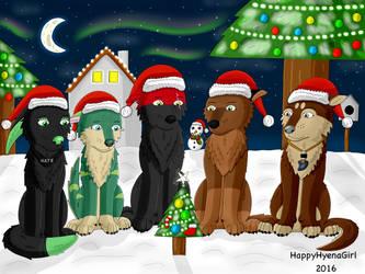 Canine Christmas by HappyHyenaGirl