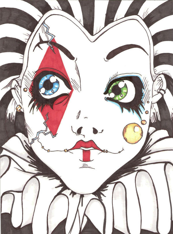 Scary Clown by Noodles-n-Rum on DeviantArt