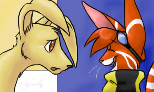 Pooka and Tag by tagness