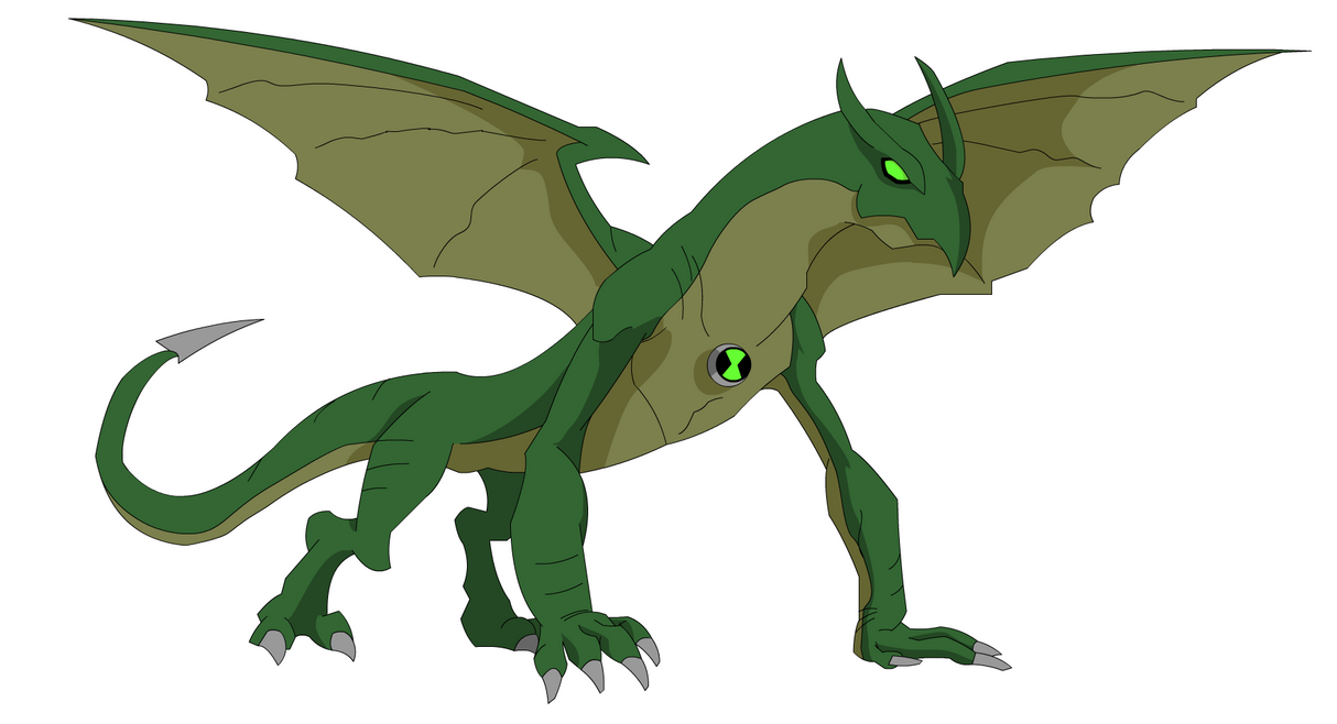 Ben 10 Alien Force Dragon by Zimonini