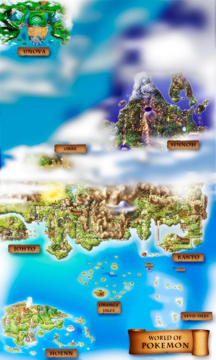 Pokemon World Regions by Zimonini on DeviantArt