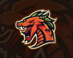 Mighty Dragon Mascot Logo | For Sale
