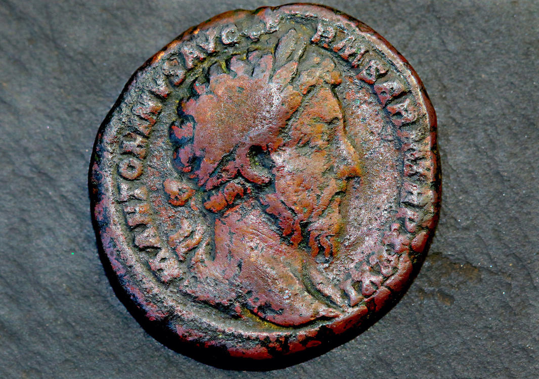 Marcus Aurelius Coin AD 177 by FallOut99