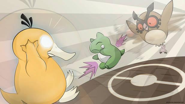 Battle! Hoothoot Used Substitute!