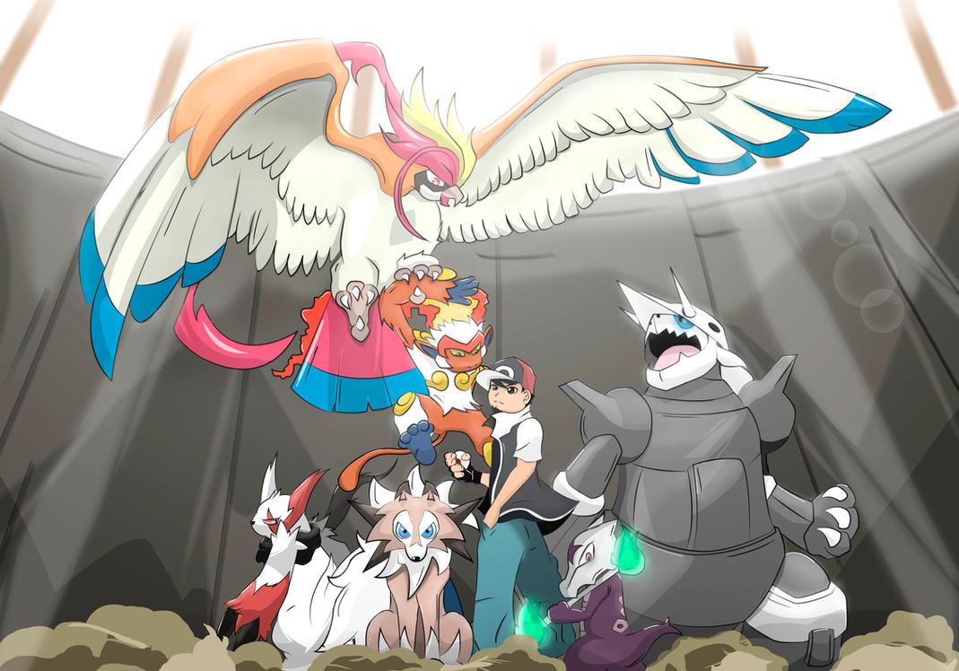 Pokemon Champion Team by JohnKurosu
