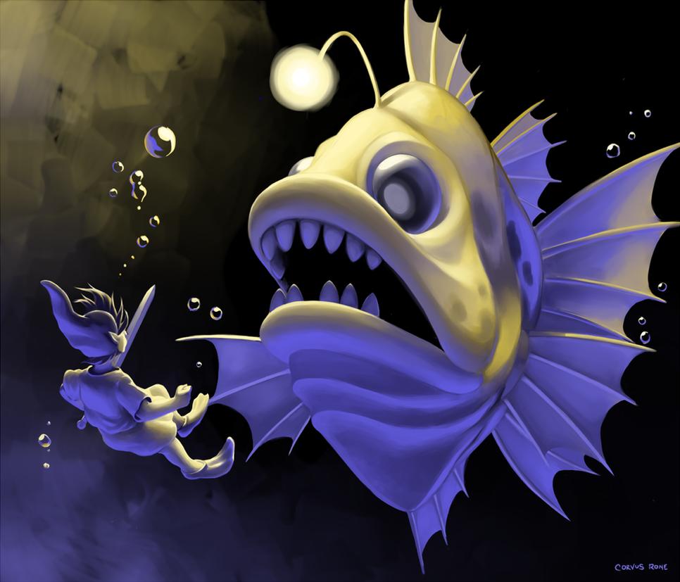 Link's Awakening - Angler Fish by CorvusRone