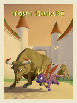Spyro the Dragon: Town Square (PS1 tribute)