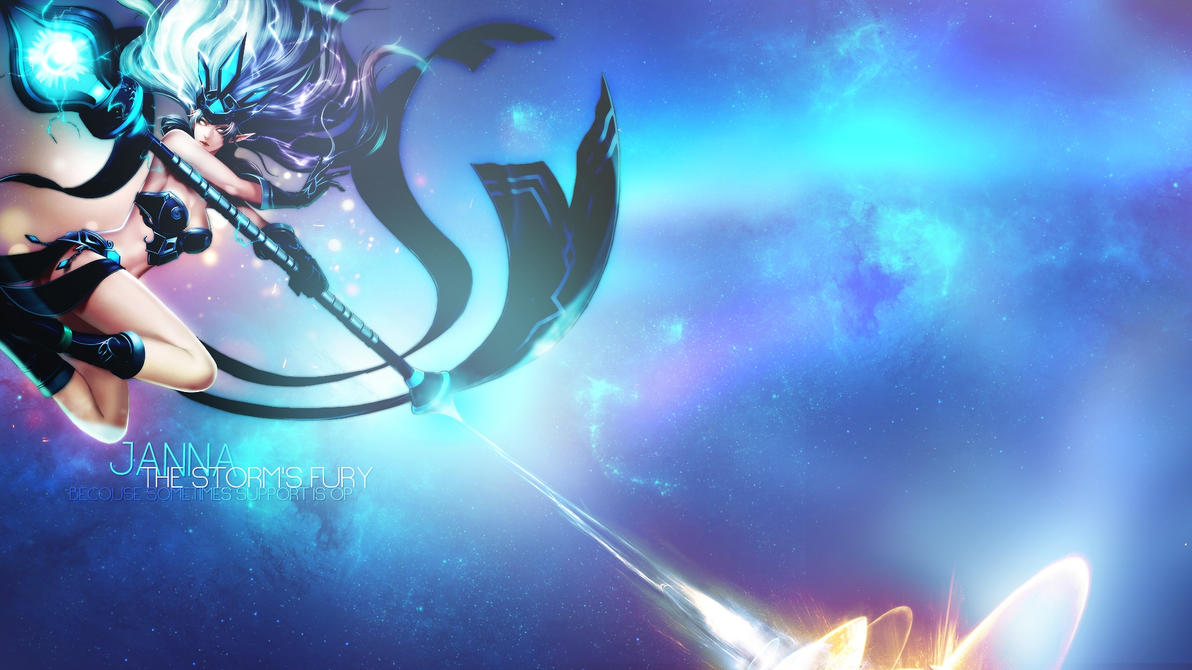 League of Legends Janna Wallpaper by Misieq on DeviantArt