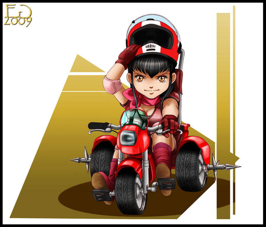 Veronica en triciclo