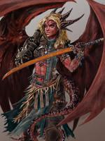 Iridium the Half-Dragon Barbarian by zhenderson