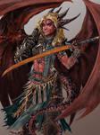 Iridium the Half-Dragon Barbarian