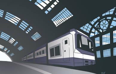 Italian Train Station by Amohs