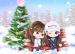 IZ*ONE SsamBbang Christmas by snowvyberry