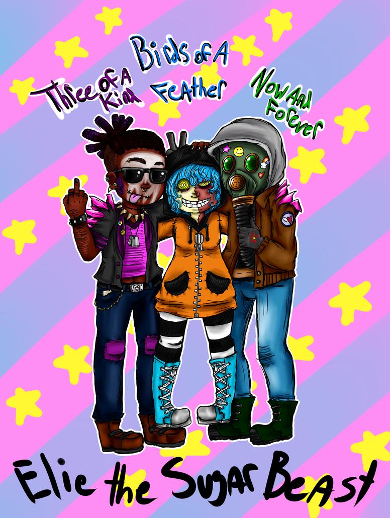 Three Dipshits by Honey-Bea