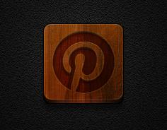 Pinterest Icon -for Jaku theme on iPhone/iPod by iGeriya
