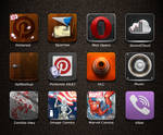 Icon Set Preview - Jaku theme for iPhone/iPod by iGeriya