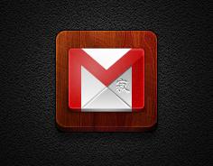 Gmail icon Jaku Style #4 - Jaku Theme on iPhone by iGeriya